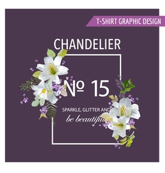 Floral Graphic Design - for t-shirt fashion prints vector image vector image