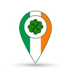 Ireland flag location icon vector image vector image