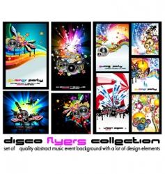 music discotheque backgound vector image vector image