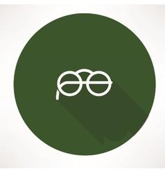 Round Glasses Icon vector image