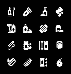 Set icons of hygiene vector image