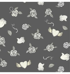 Valentine seamless pattern on a grey background vector image vector image