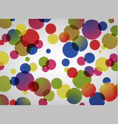 abstract background of colorful circle pattern vector image