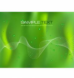 abstract green background with droplets vector image