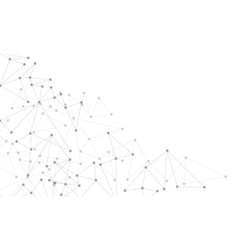 Abstract grey line dot connect network geometric vector