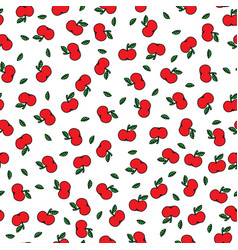 apples seamles pattern vector image