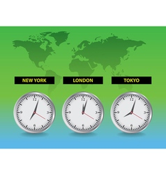 Around the world time vector image vector image