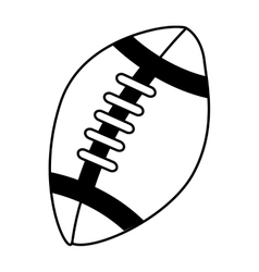 balloon football american sport vector image