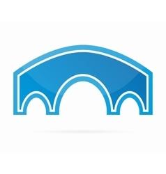 Bridge logo design element vector image