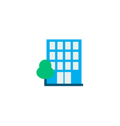 building icon flat element of vector image
