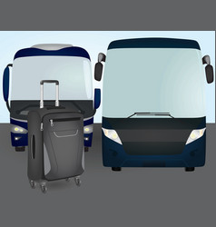 Bus suitcase vector