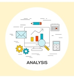 Business analysis concept vector
