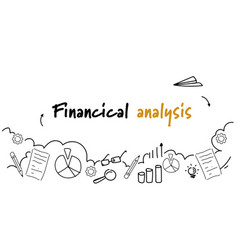 Business data report financial analysis concept vector