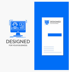 business logo for tutorials video media online vector image