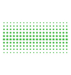 Cannabis shape halftone array vector