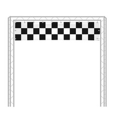 checkered banners run start vector image