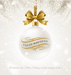 christmas greeting in spanish vector image