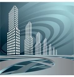 city landscape is in dark tones vector image