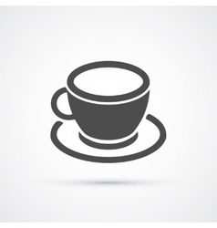 Coffee cup trendy icon vector image