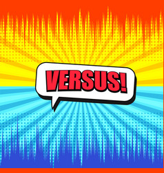 Comic versus bright background vector