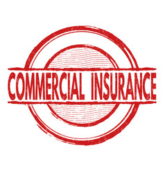 commercial insurance stamp vector image