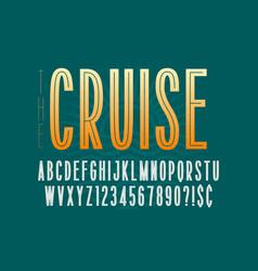 condensed simple display font design alphabet vector image