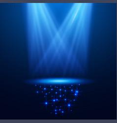 Dark spotlight background for your business vector
