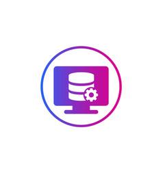 Database maintenance service icon vector