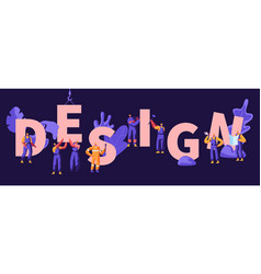 design concept building construction process vector image