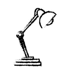 Desk lamp light work object sketch vector