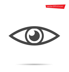 eye icon flat view symbol isolated on white backg vector image