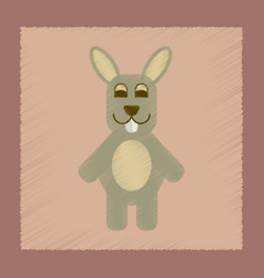 Flat shading style icon rabbit bunny vector