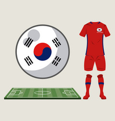football south korea sport wear vector image