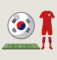 Football south korea sport wear vector