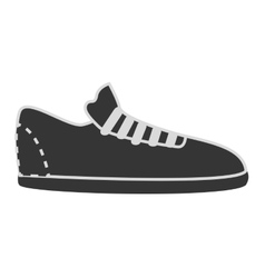 Footwear icon in black and white colors vector image
