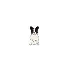 french bulldog cartoon dog icon vector image
