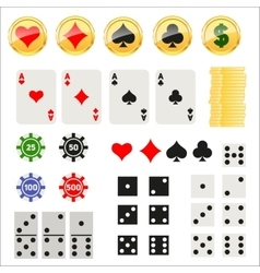 Gambling elements set vector image