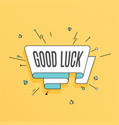 good luck retro design element in pop art style vector image