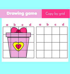 grid copy worksheet educational children game vector image