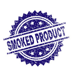 Grunge textured smoked product stamp seal vector