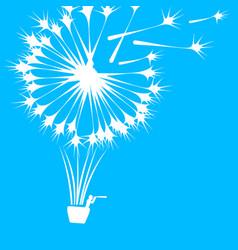 human journey to balloon dandelions man vector image