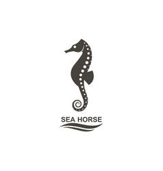 icon of seahorse vector image