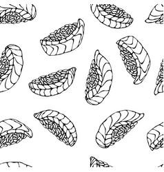 Image salmon nigiri sushi ikura sushi pattern vector