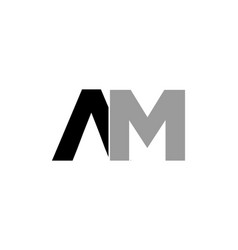 initial letter am logo template design vector image