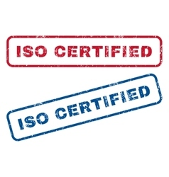 ISO Certified Rubber Stamps vector