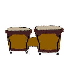 isolated bongo drums vector image