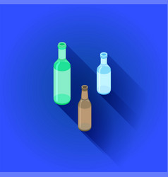 isometric alcohol bottles set vector image
