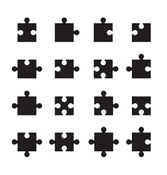 Jigsaw pieces vector