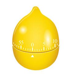 lemon timer mockup realistic style vector image