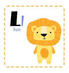 letter l funny alphabet for young children vector image